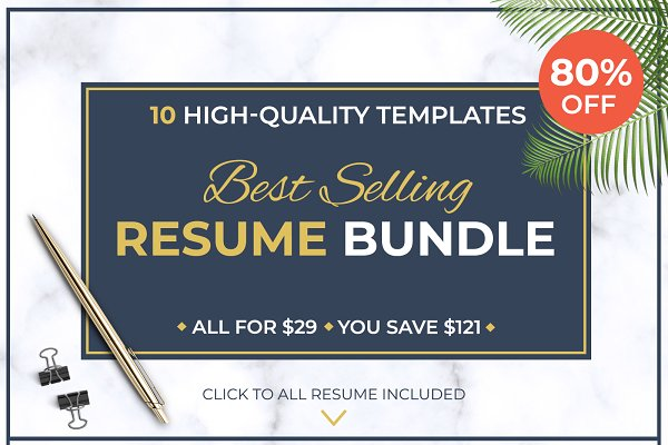 Resume Templates: LevelUpResume - Best Selling RESUME BUNDLE / CV