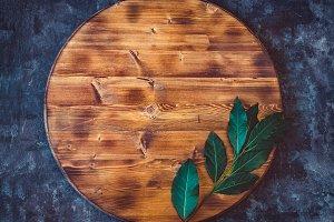 Round Empty Wooden Cutting Board