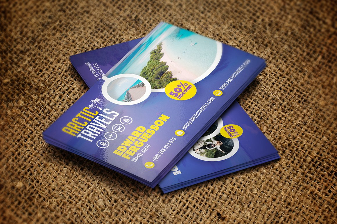 Tour and Travel Business Card ~ Business Card Templates ~ Creative ...