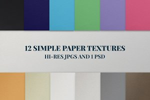 12 Simple Paper Textures