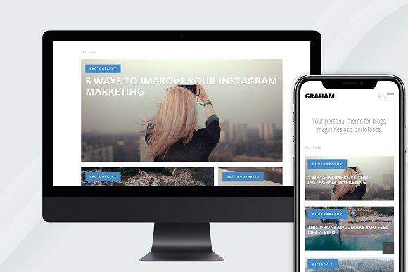 Graham Clean Magazine Ghost Theme