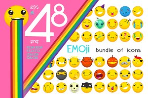 Emoticon icons pack