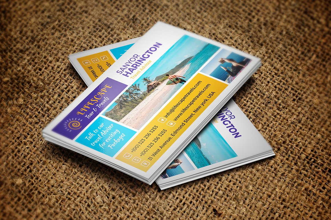 Tour and travel business card business card templates creative tour and travel business card business card templates creative market colourmoves