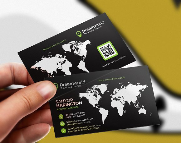 Tour and travel business card business card templates creative daddy cheaphphosting Gallery