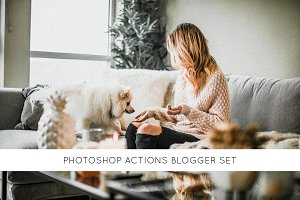 Photoshop actions Blogger set
