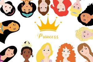 Princess ilustrations - head arts