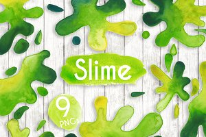 Watercolour Green Slime