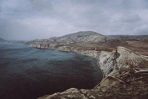 Amazing cold landscape,sea,mountains