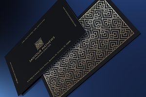 Retro Gold and Black Business Card