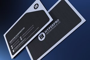Elegent Black Business Card