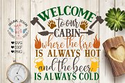 Welcome to the Cabin (SVG, DXF, PNG)