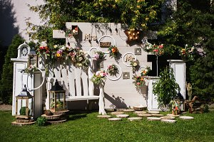 Beautiful unusual wedding decor.