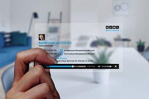 Transparent Video Business Card