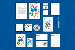 M Media Stationery + Logo