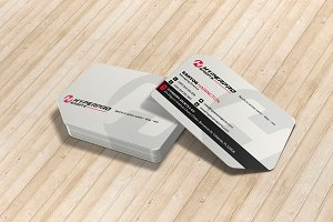 Sports Die Cut Business Card