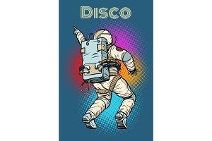 astronaut dancing disco