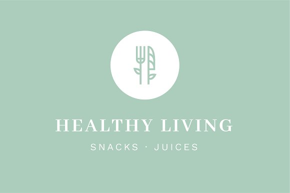10 Minimal Healthy Food Logos