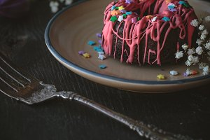 Chocolate cake with decorations