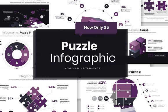 Puzzle Infograpic PowerPoint