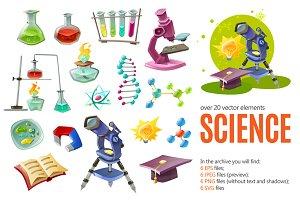 Cartoon Science Set