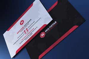 Corporate Red Black Business Card