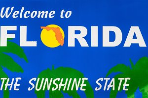 Welcome to Florida road sign