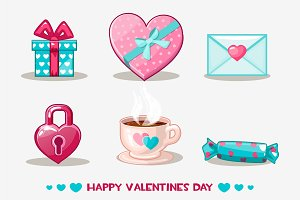 love collection valentine's day icon