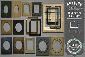 Antique Cabinet Photo Frames