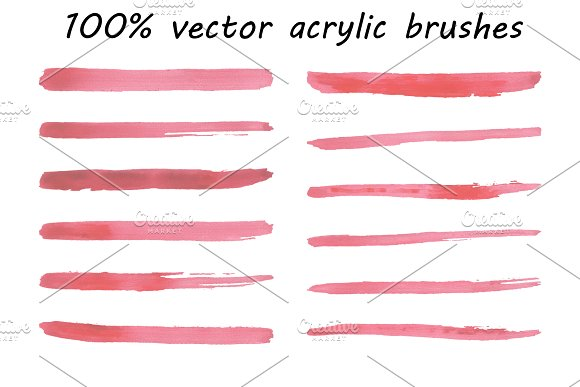 Acrylic Brushes 100% Vector
