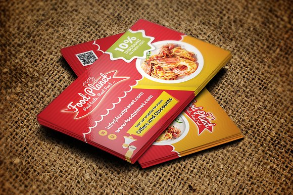 Food And Restaurant Business Card Business Card Templates