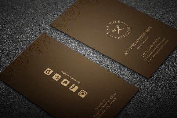 elegant restaurant business card business card templates creative market