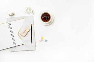 Planner & Tea Styled Flat Lay