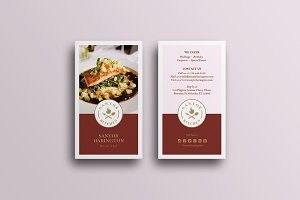 Elegant Food Business Card