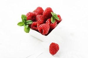 Sweet fresh raspberry