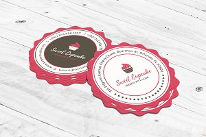 Cake Bakery Round Business Card