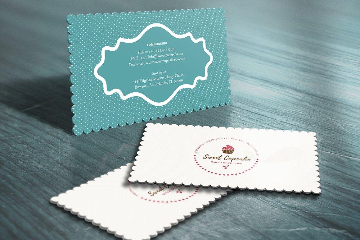 Cake Bakery Die Cut Business Card ~ Business Card ...