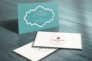 Cake Bakery Die Cut Business Card
