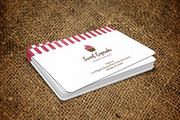 bakery business card - Bakery Business Cards