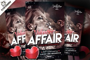 Valentine Affair Flyer Template