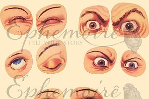 EYES - Clipart Image Set 10 PNGs