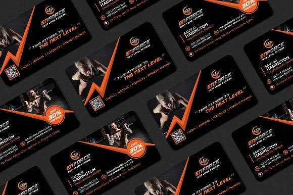 Fitness gym sports business card business card templates fitness gym sports business card business card templates creative market colourmoves