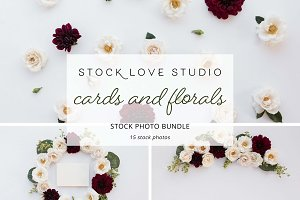 Red Floral Stock Photo Bundle