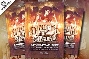 Cowgirl Showdown Flyer Template