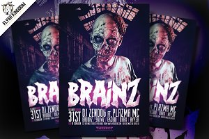 Brainz Flyer Template