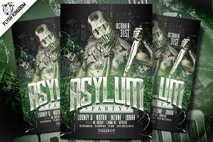 Asylum Party Flyer