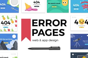 Error pages - web & mobile design