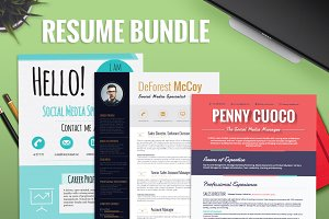 3 Resume Templates Bundle