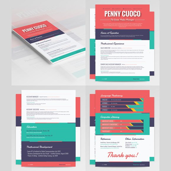3 Resume Templates Bundle in Resume Templates - product preview 3