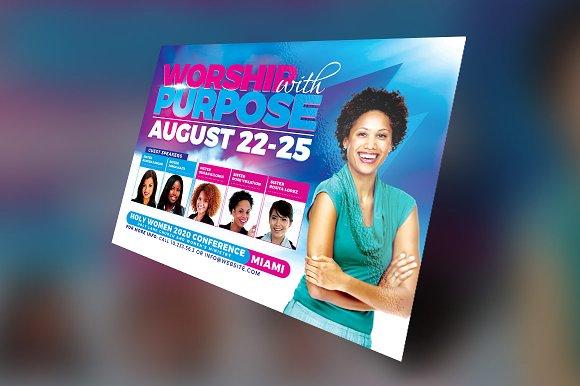 women conference flyer template flyer templates creative market