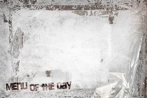 Menu of the Day grunge background